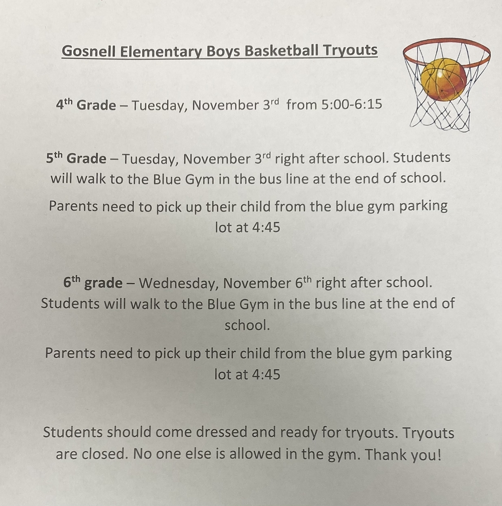 GES boys basketball tryouts